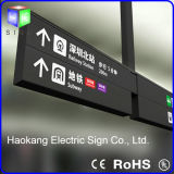 Techo doble del lado LED que cuelga la muestra direccional