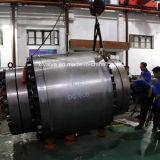 600lb a modifié le robinet à tournant sphérique fixe par tailles importantes en acier d'extrémité de bride