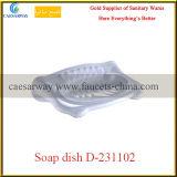 Estante blanco de la materia de las mercancías de los accesorios sanitarios del cuarto de baño