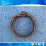 Kühles Großhandelsleder kundenspezifischer Wristband mit RFID