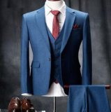 極度の160s 100%Woolの習慣2ボタンは折りえり細い適合の人のスーツを最高にする