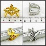 Кольцо чемпиона нержавеющей стали высоко Polished Masonic
