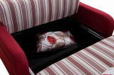 La base di sofà funzionale con memoria ed i sacchetti dello scomparto per camera di albergo o Casa-Usano