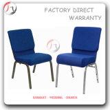 후에 파란 두꺼운 시트에 의하여 덧대지는 사원 의자 (JC-10)