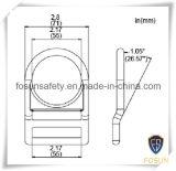 Anillo en D del metal de los accesorios del harness de seguridad (H313D)