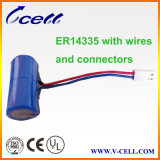 3.6V 1650mAh 2/3AA Er14335 Li-Socl2 Cylindrical Battery