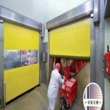 Estilo automática Abrir la puerta del viento Resistente plástico de PVC de alta velocidad del rodillo de puerta de persiana (HF-J301)
