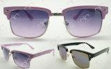 Venda elegante e quente para os óculos de sol plásticos das senhoras (WSP501002)