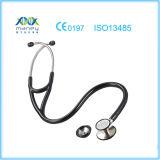 Estetoscopio principal dual médico de acero aprobado de la ISO Maney Staineless del Ce (MN-MS507)