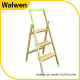 Aluminium die Beweegbaar Aluminium 3 vouwen van de Ladder de Brede Ladder van de Stap