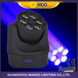 Del partido del disco mini LED ojo principal móvil de la abeja de la colada 6X10W de la luz