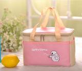 Розовый мешок охладителя ручки полиэфира с застежкой -молнией