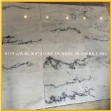 自然な中国の安く磨かれた白い大理石の石造りの床タイル
