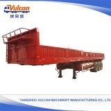 반 3개의 차축 (주문을 받아서 만들어지는) 특별한 평상형 트레일러 수송 트럭 화물 트레일러