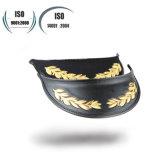 El oficial de autorización mayor del ejército del bordado del oro de la alta calidad enarboló el casquillo