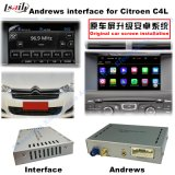 Navegación GPS Interface de video para Citroen C4, C5, C3-XR (MRN SISTEMA) Asciende táctil de navegación, WiFi, BT, MirrorLink, HD 1080P, mapa de Google, Play Store, Voz