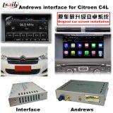 Relação video da navegação para Citroen C4, C5, navegação do toque do melhoramento de C3-Xr (SISTEMA de MRN), WiFi, BT, Mirrorlink, HD 1080P, mapa de Google, loja do jogo, voz