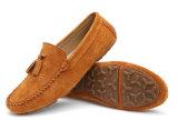 別のカラースエードのふさ(DD 14)が付いている上部の平らな人の靴