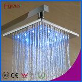 Acquazzone di pioggia d'ottone della stanza da bagno fissata al muro LED di Fyeer impostato (QH336F)