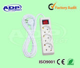 UK Type 3 Way Socket Outlet Power Strip, British Standard Extension Power Socket / Outlet