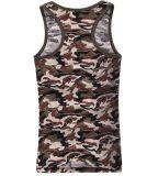 Dessus de réservoir en gros chaud ajusté par mode d'hommes d'été de Cutton de configuration de camouflage