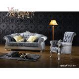 Antikes Gewebe-Sofa mit geschnitztem Muster (NCS29-A/NCS29-B)