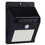 20 Lamp van de Tuin van de Muur van de Sensor van de LEIDENE van de ZonneMacht Pir- Motie de Lichte Openlucht Waterdichte