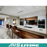 Muebles de la cabina de cocina de la melamina con el vector de piedra (AIS-K123)