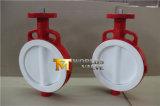 Tipo válvula da bolacha do revestimento cheio de PTFE de borboleta com ISO Wras do Ce aprovado (CBF04-TA01)