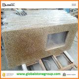Bovenkanten van de Ijdelheid van het Graniet van het Strand van China de Gouden G682 voor Badkamers