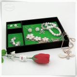 Rectángulos de joyería decorativos de cuero de la PU de la fábrica pequeños