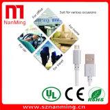 USB micro al cable de carga trenzado del USB del nilón del cable 2.0 del USB para el androide