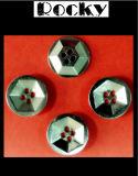 Bouton de partie lisse en métal de bouton d'alliage pour la robe