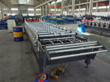 Trapezoidal Galazed Steel Wall Roof Panel Cold Rolling Machine