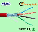 UTP/FTP/SFTP Cat5e Cable/CAT6 케이블 또는 통신망 Cable/LAN 케이블 커뮤니케이션 케이블의 제조자