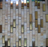 Última Teja acero inoxidable piedra natural mosaico para la construcción de viviendas Material de pared (FYSM087)