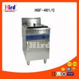 Machine à réservoir unique profonde de traitement au four de matériel d'hôtel de matériel de cuisine de machine de nourriture de matériel de restauration de BBQ de matériel de boulangerie de la CE de Module de la friteuse de gaz (HGF-481C)