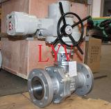 Valvola a sfera di gestione elettrica dell'acciaio inossidabile