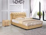 Späteste Entwurfs-Bett-Raum-Möbel-neue Art-Leder-Betten