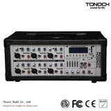 Tonoch 6 채널 통신로 힘 상자 PA 믹서