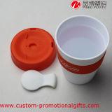 Copo de café Heatproof diário do silicone do uso 12oz com tampa