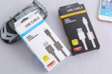 Buntes Kurbelgehäuse-Belüftung isolierte der 8 Pin-Blitz USB-Kabel für iPhone, iPad, iPod