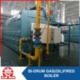 Caldera de agua caliente doble del gas o del combustible del tambor