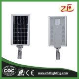 30W Alumimun todo em uma luz de rua solar