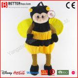 Morral de la abeja del juguete de la alta calidad del animal relleno