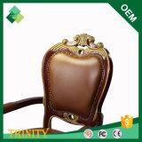 Silla francesa costosa del trono de la venta al por mayor del estilo de la haya de destello para el sitio