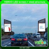 Visualizzazione di pubblicità laterale del LED del tabellone per le affissioni di Digitahi del contrassegno della strada esterna della visualizzazione