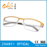 Bunter leichter Voll-Rahmen Titanbrille Eyewear optische Glas-Rahmen (9101)