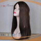 Peluca blanca más clara hermosa de las mujeres de la piel del pelo humano del 100%