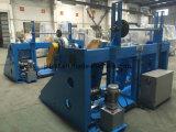 El alambre del cable de cobre paga apagado y toma la maquinaria